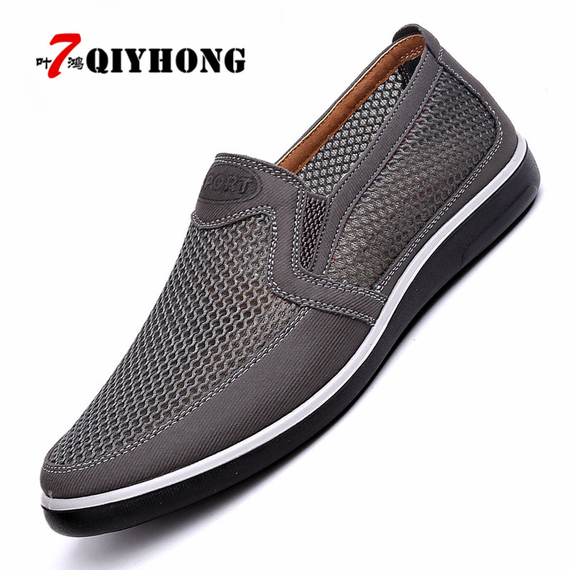 2018 Men'S Casual Shoes,Men Summer Style Mesh Flats For Men Loafer Creepers Casual High-End Shoes Very Comfortable Size:38-44