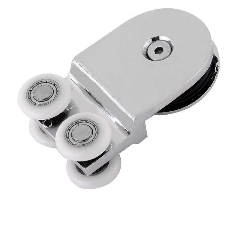 Shower Room Hanging Round Sliding Door Pulley Bathroom Glass Hanging Wheel Parts --70x45mm 8 shower rooms cabins pulley