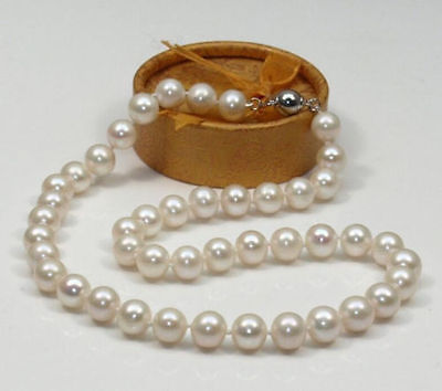 Huge AAA 10-11mm south sea white pearl necklace 18