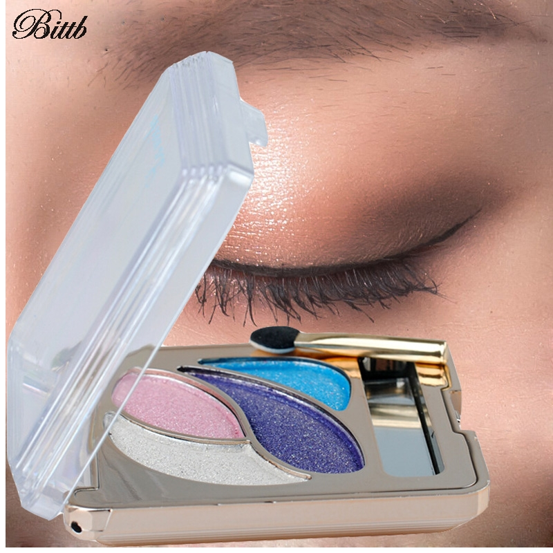 Bittb 4 Colores de Maquillaje Paleta de Sombra de Ojos Desnuda Paleta Sombra de