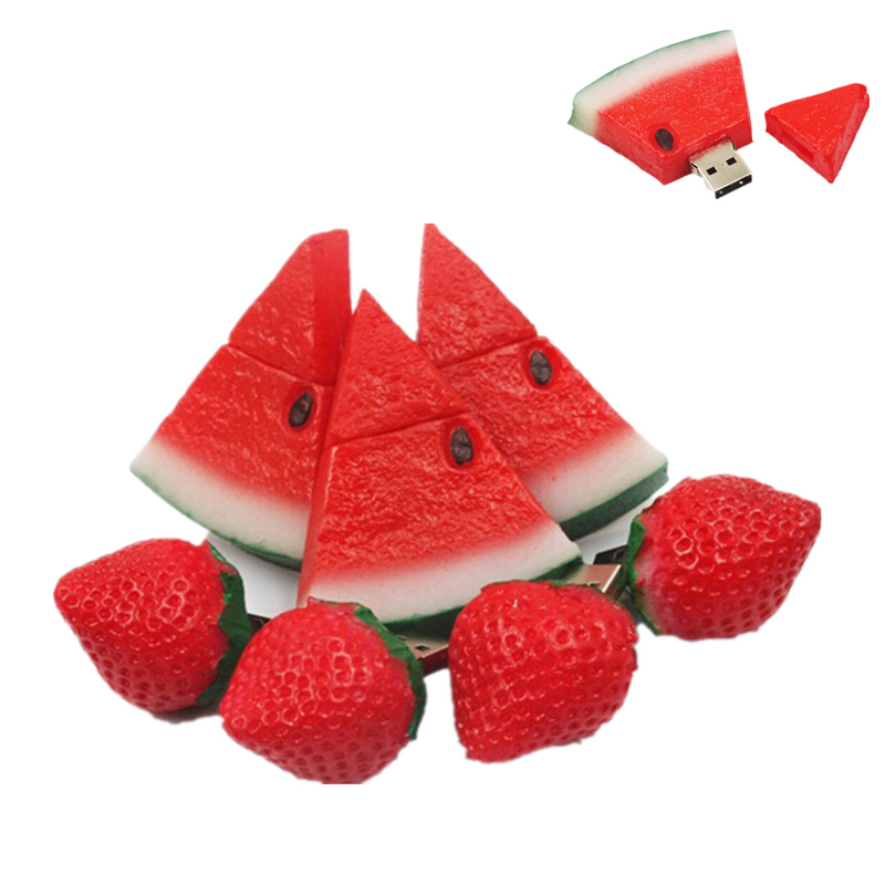 Food Fruit Strawberry Pen Drive 32GB USB Flash Drive 4GB 8GB 16GB Cute Pendrive 64GB Flash Memory Card Usb Stick 128GB U Disk