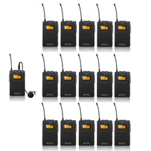 BOYA BY WM6 Wireless Microphone System Acoustic Transmission 1 Transmitter 15 Receivers