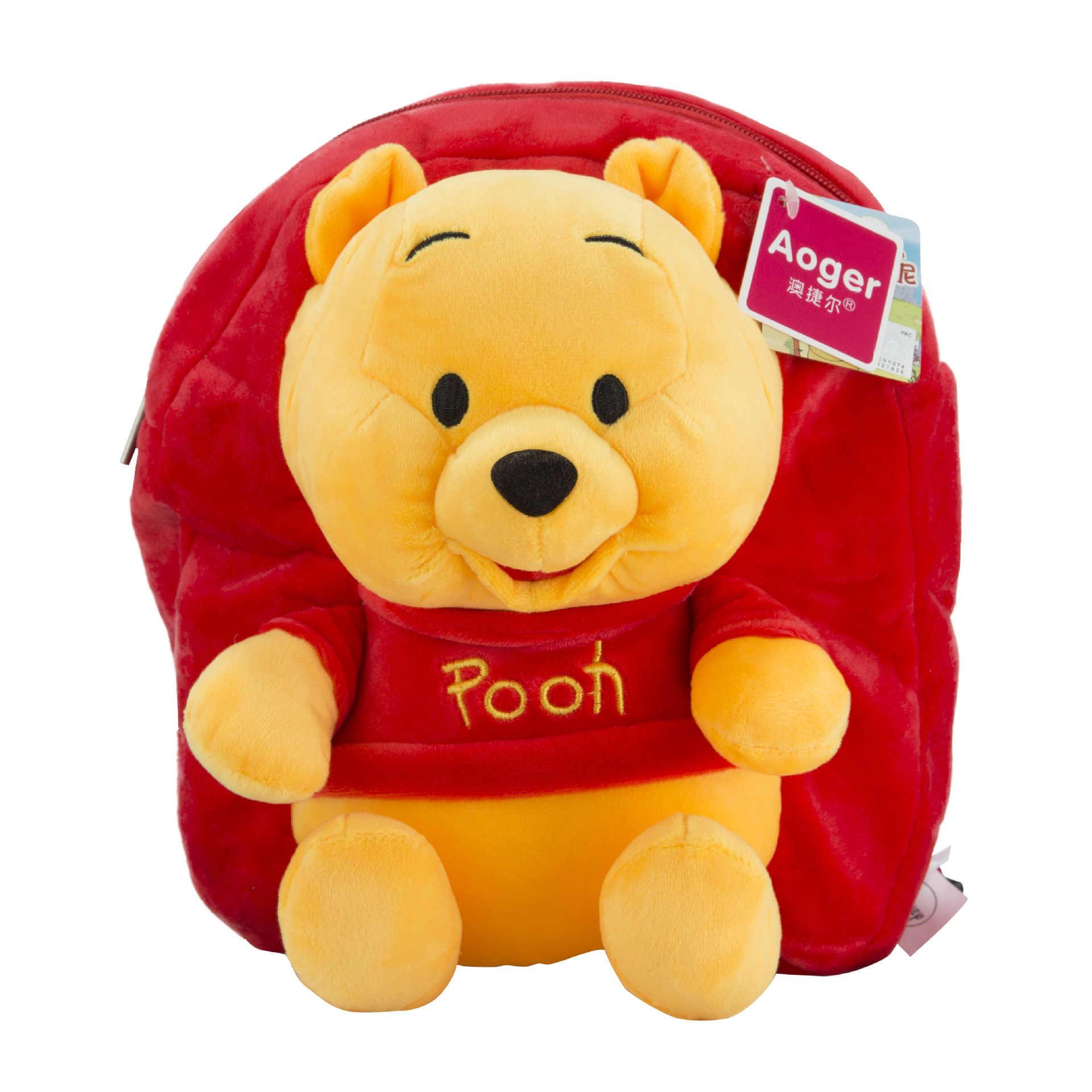 Mochila De felpa para niños de 30cm de Disney Mickey Minnie Mouse, Mini mochila escolar para niños y niñas, regalos de muñecas Disney, juguetes de peluche