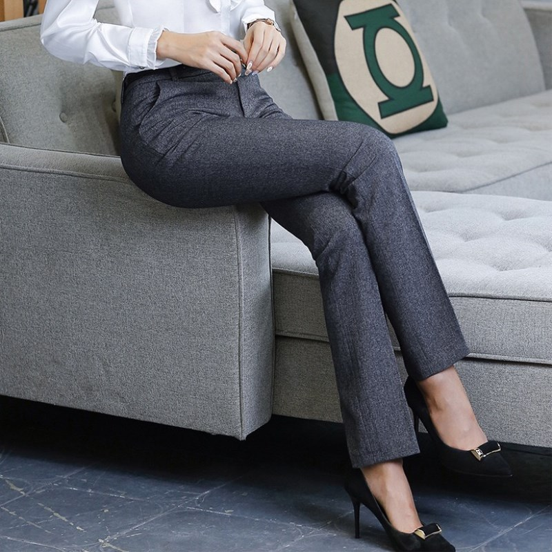 HTB1V62dlFooBKNjSZFPq6xa2XXaj - Stylish Women Work Pants Casual Korean OL Office Lady Straight Leg Formal Long Trousers Business Dress Pants Female 4XL XXL