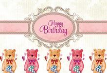 Laeacco Cartoon Bears Happy Birthday Party Baby Child Photographic Backgrounds Customized Photography Backdrops For Photo Studio