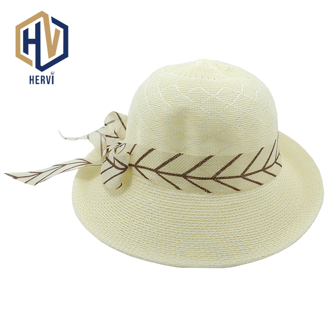 5f10dd5e7ee 2018 Wholesale Top Brand Women Fashion Summer Topi Hat Sun Shade Straw Lady  Hat Beach Female
