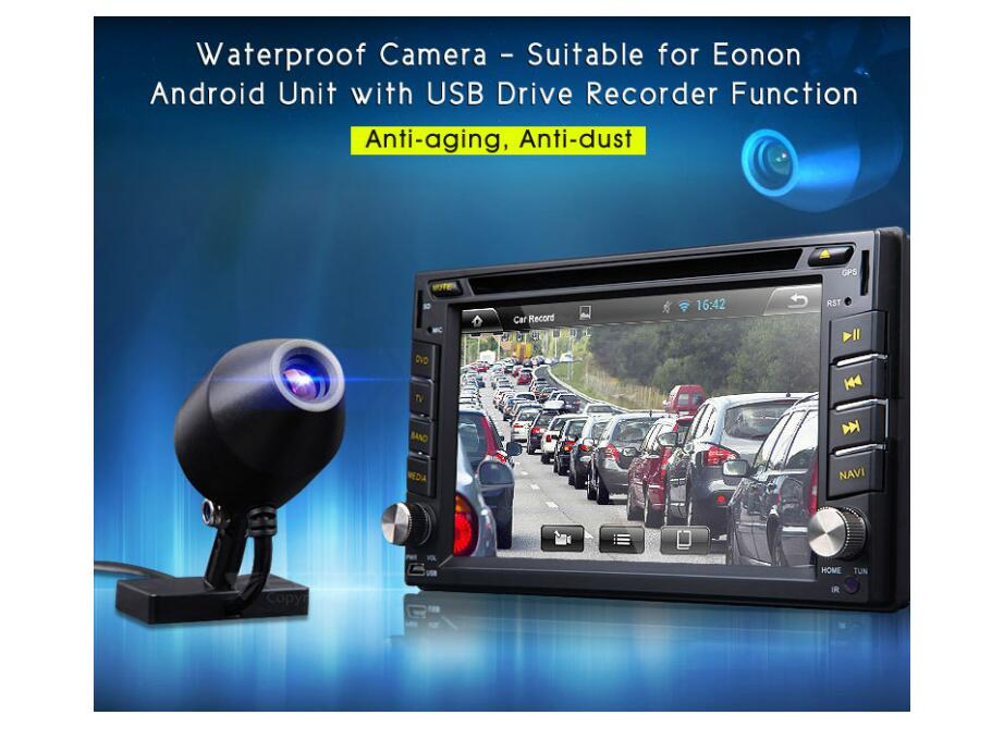 car mini Front USB DVR camera HD Video Recorder DVR For Android 4.2/4.4 USB2.0 Portable recorder via Android waterproof