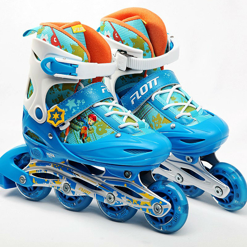 free shipping roller skates children size adjustable #34-#37 hot sale free shipping children s roller skates pink and blue color