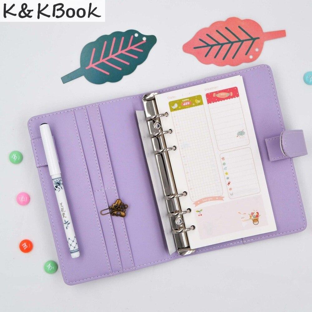 K & KBOOK KK006 Nahast sülearvuti A5 A6 spiraalne sülearvuti - Kaustikud ja kontoriraamatud - Foto 3