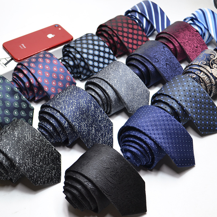 16 Style Neck Tie Men Skinny Necktie Wedding Ties Polyester Navy Paisley Fashion Mens Business Bowtie Shirts Accessories