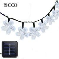 Dcoo Solar LED Lights 21ft 50 LEDs Fairy Flower Blossom Christmas Party Lights Garden Solar Light
