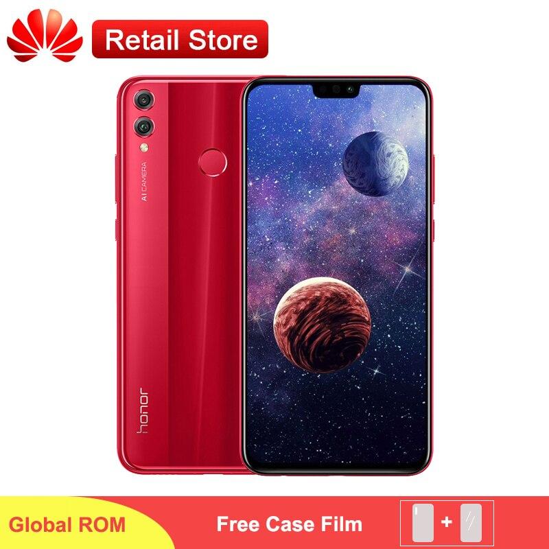 """名誉 8X グローバル ROM スマートフォンキリン 710 アンドロイド 8.1 デュアルカメラ 3750 mAh 指紋 6.5 """"Fullview ディスプレイ 4 ギガバイト 6 1GB の RAM  グループ上の 携帯電話 & 電気通信 からの 携帯電話 の中 1"""