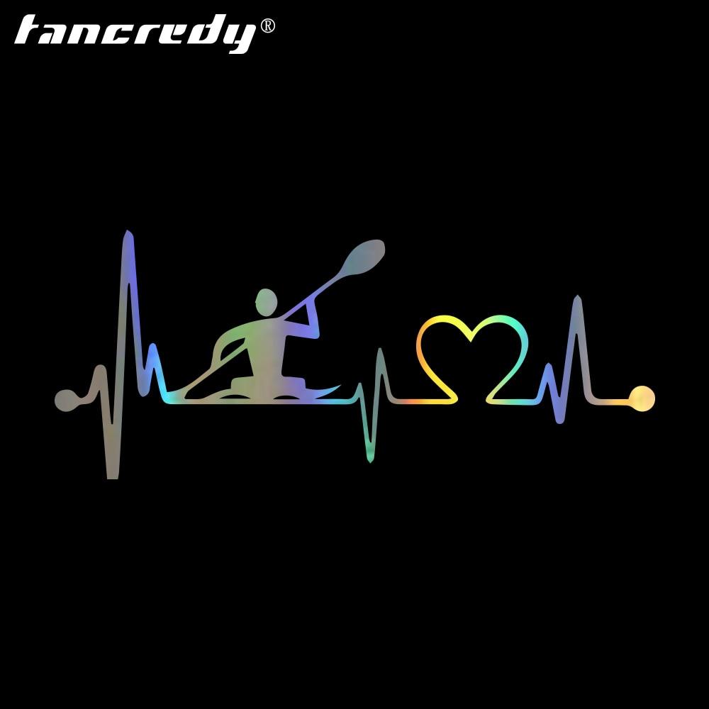 Tancredy персональные модные креативные автомобильные наклейки и Переводные картинки с изображением сердцебиения, Каяка, стикеры для дверей и окон
