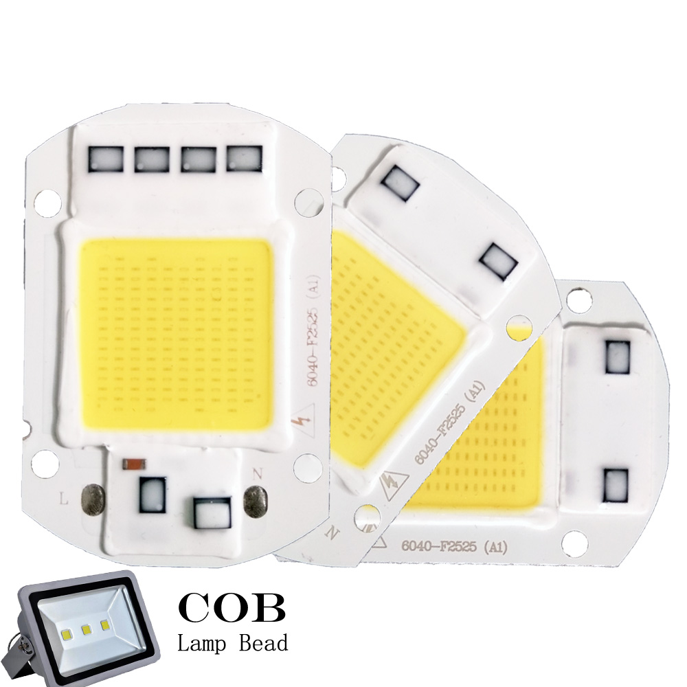 LED COB Chip 50W 30W 20W AC 220V 110V No need driver Smart IC bulb lamp For DIY LED Floodlight Spotlight