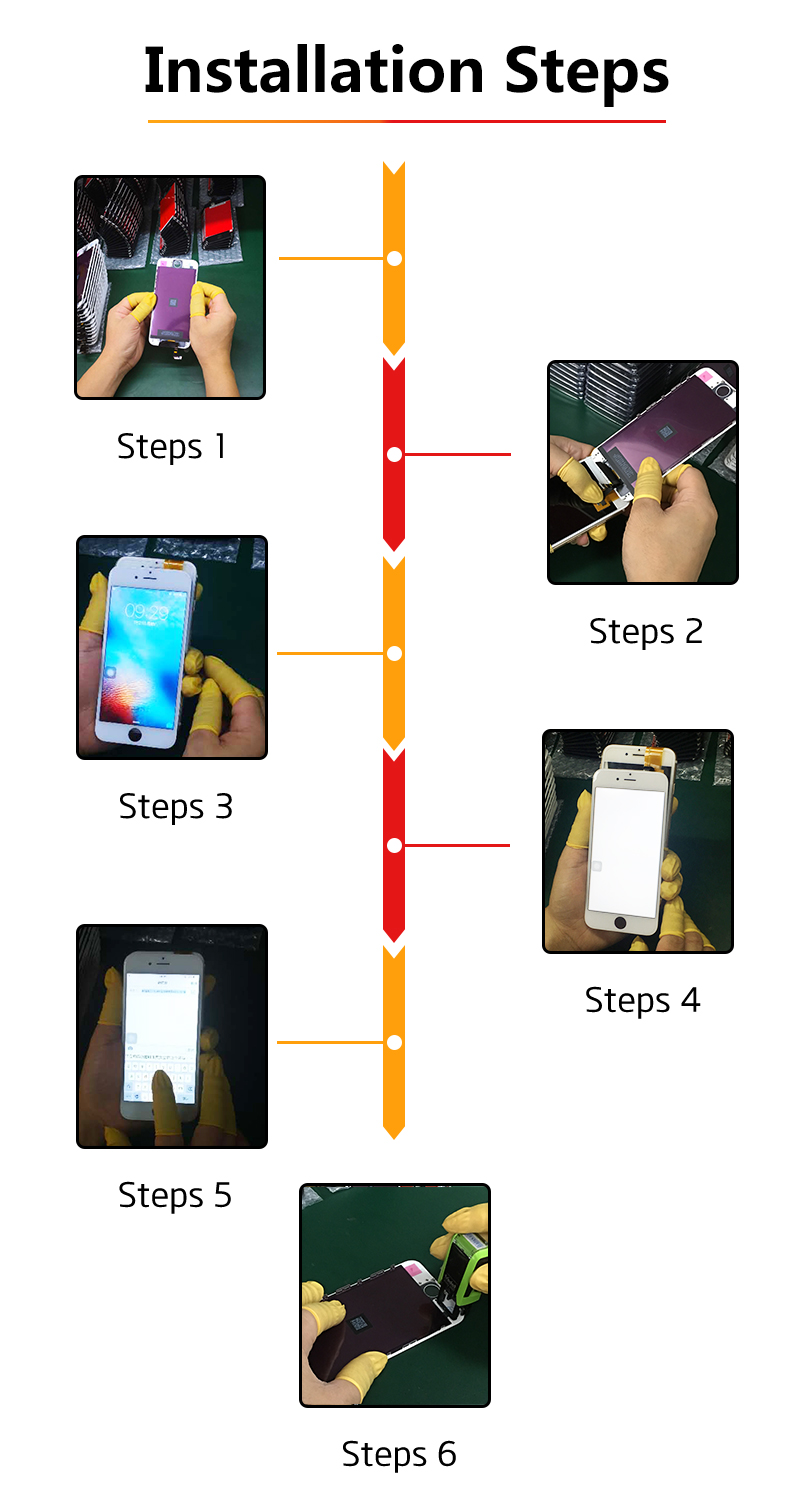 Promotion LCD Display For iPhone 5 5c 5s SE Touch Screen Replacement for iPhone 4 6+Tempered Glass+Tools+TPU Case 100% AAA+++