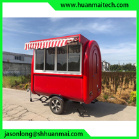 Food Truck Concession Trailer Food Cart Rolled Ice Cream Trailer