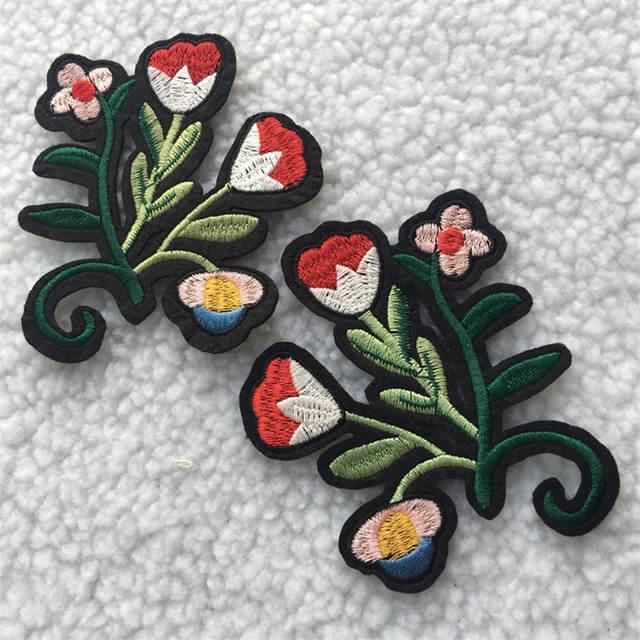 DoreenBeads Neue Mode Rose Blume Muster Patch Bestickt Appliziert ...