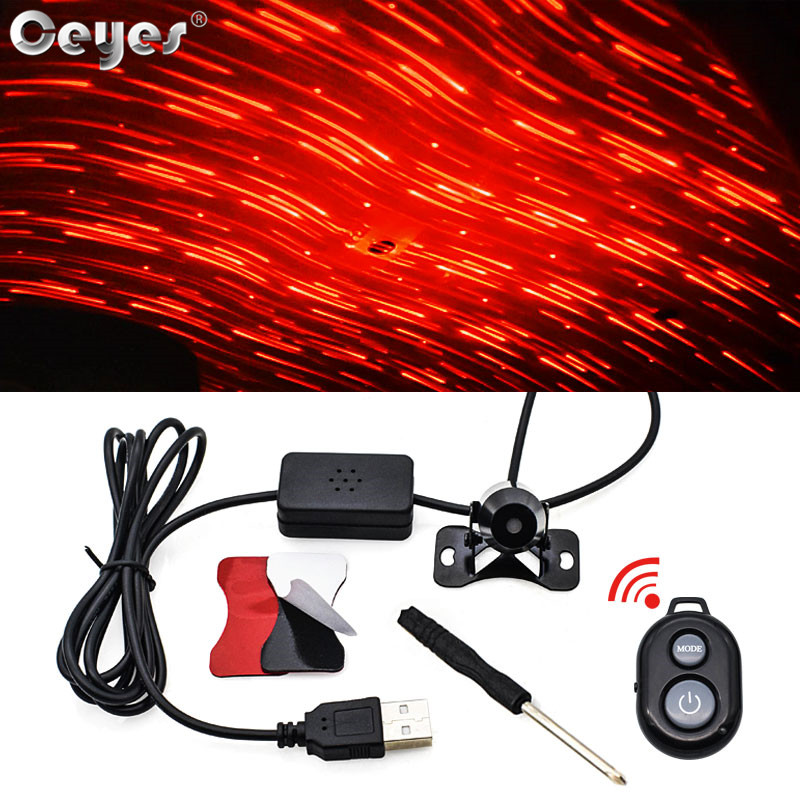 Ceyes Car Interior Festival Decorative Bright Flicker Laser Lights Accessories LED Auto Universal Atmosphere Lamps Voice Control