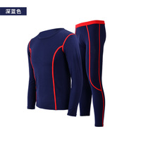 2017 New Winter Men Thermal Underwear Sets Fleece Warm Long Johns Breathable Thermo Underwear Quick Dry
