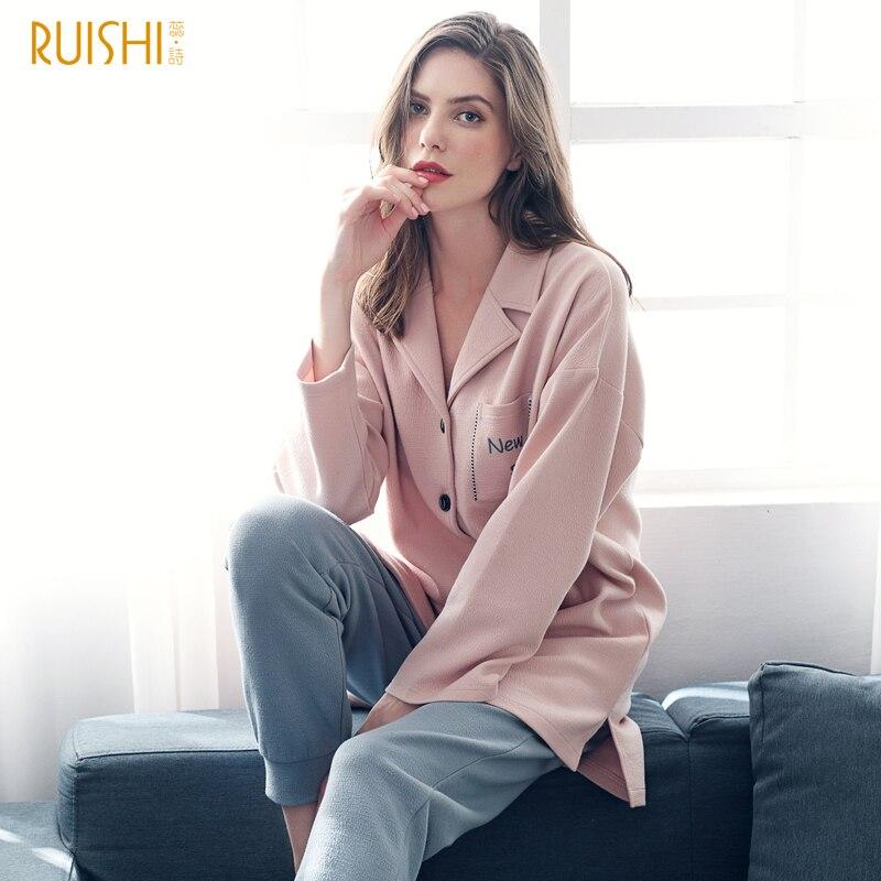 J & Q nouveau Pyjama Femme rose mignon Pyjama de haute qualité marque coton femmes vêtements de nuit loisirs Lingerie maison vêtements femmes Pijama ensemble