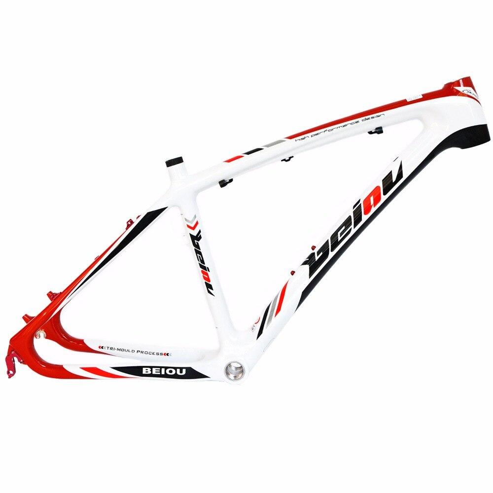 BEIOU 3K Carbon Fiber Mountain Bike Frame 26-Inch Glossy Unibody External Cable Routing T700 Ultralight MTB B005