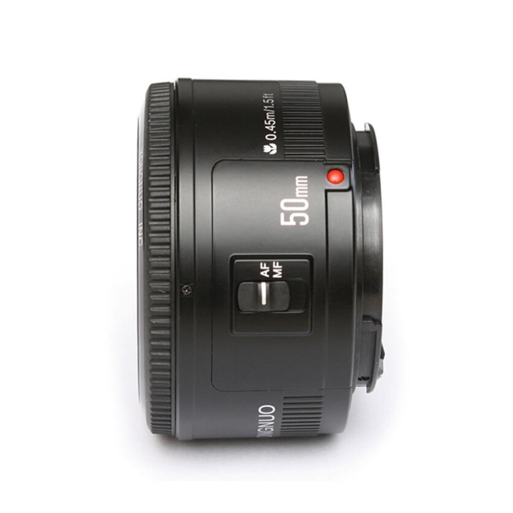 YONGNUO YN50mm f1.8 YN 50mm AF Lens YN50 Auto Focus lens + hood +UV len + bag for Canon EOS DSLR Cameras Camera Accessories jjc lh 60c t diy 58mm abs lens hood for canon ew 60c dslr camera black
