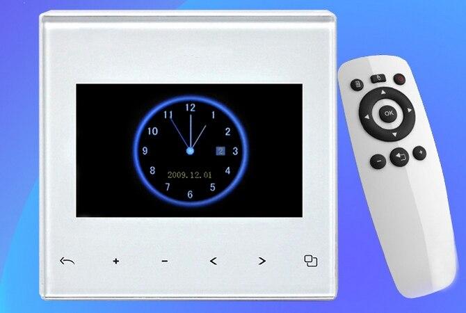 3 4.3 5 7 pouces led lcd tft full HD télécommande fond d'accueil musique hôte