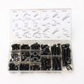 240PC Nylon Screws Nut And Bolt Washer Lock Assortment Kit Set M4 M5 M6 M8 M10