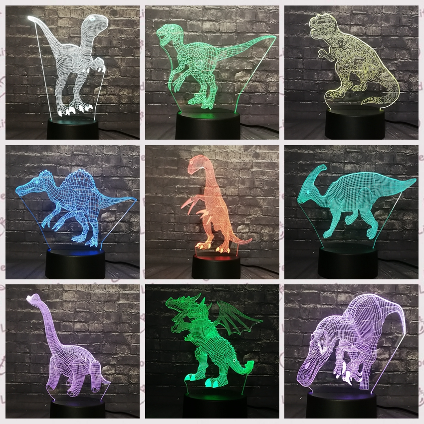 Luminous Animal Model 3d Illusion Led Lamp 7 Colors Changing Nightlight Spider Figure Flash Toys Let Our Commodities Go To The World Action & Toy Figures