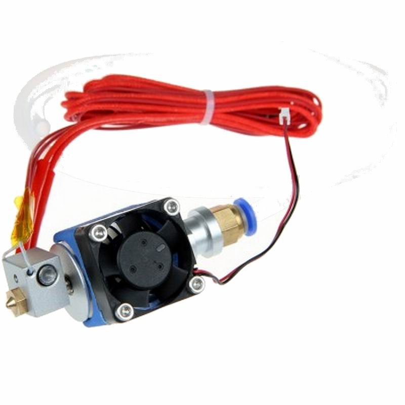Geeetech 3D Printer Parts All-Metal J-head Hot End SH74 With Cooling Fan,Cartridge Heater And PTFE Tube