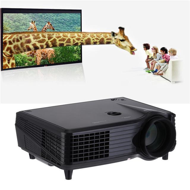 Proyector 1080 P HD 2000 lúmenes 100 W 800*480 100-240 V de Cine En Casa HDMI USB Vídeo LED LCD de alta luminosidad, ahorro de energía