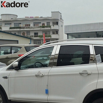 For Ford Kuga Escape 2013 2014 Stainless Steel Window Pillar Posts Cover Trim Molding Garnish Guard Exterior Accessories