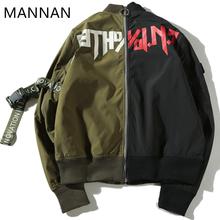MANNAN Hip hop Xieruis Purpose Tour Justin Bieber Clothing Women Men stitching men Bomber Jacket Coat