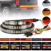 LED Tailgate Light Bar Flexible 60'' Triple Row LED Light Strip Tailgate Bed Light Reverse Brake Turn Signal Running Light