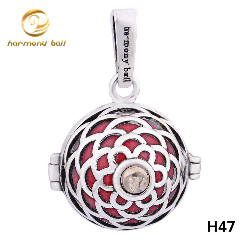 H47 18 Wholesale 18 16mm Angel Caller Bola Pendant Colorful Harmony Ball Ringing Chime Pendant For