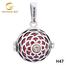 H47-18 venta al por mayor 18 * 16 mm ángel que llama Bola colgante colorida Bola de la armonía de sonar Chime colgante para mujeres embarazadas