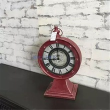 TUDA 2017 European Antique Table Clock For Living Room Decorative Table  Clocks Stand Clock