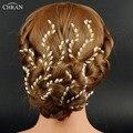 Chran Oro Plateado Pelo de La Boda Pin, conjunto de 4 Perlas de Imitación de Novia Horquilla Joyería de dama de Honor de Velo de Novia Accesorios Del Pelo Postizo