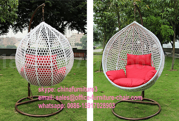 Patio Modern Outdoor Garden Rattan Hanging Egg Basket Swing Chair