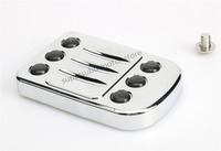 For HARLEY BRAKE PEDAL COVER TOURING GLIDE SOFTAIL Edge Cut Large PARTS Chromed 1980 Up