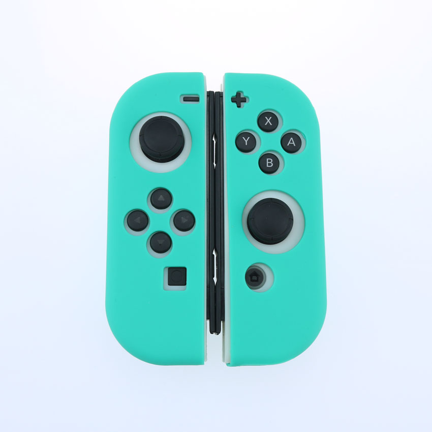 Teal Color Silicone Case For NS Switch Cover Joycon Case Soft Controller Shell Console Protective Controller Grip Joy-con Cover