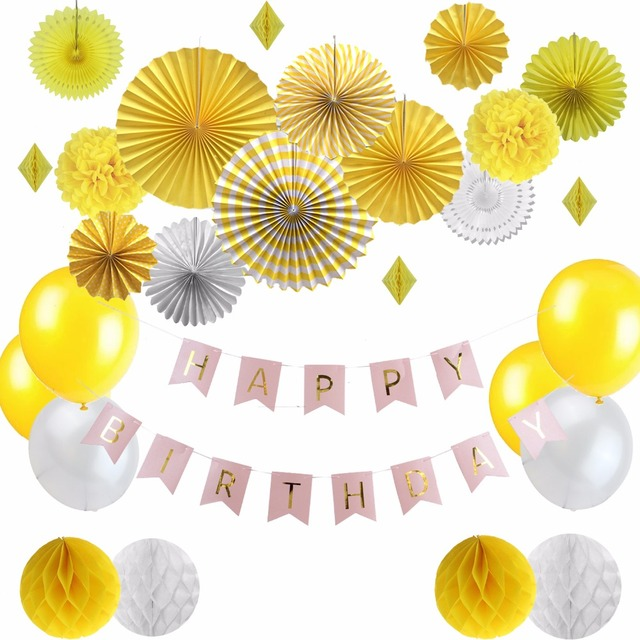 Summer Party Decorations For Birthday Diy Party Decoration Yellow