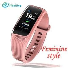 Féminin style S4 Fitness Bracelet Moniteur de Fréquence Cardiaque Bande À Puce Montre Étanche Podomètre Sommeil Moniteur Bluetooth Bracelets(China)