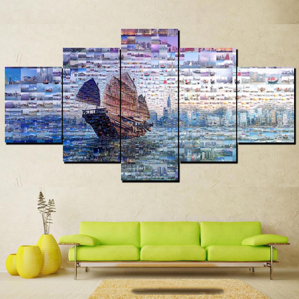 Large size Printing Oil Painting hong kong Wall painting Decor Wall ...