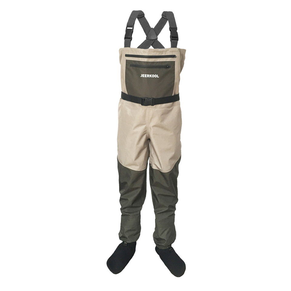 Fly Fishing Hunting Waders Pants Waterproof Wader Clothes Chest Overalls with Soft Foot Waders Respirant Boot