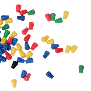 Image 3 - 100 pièces en caoutchouc souple tampon choc perles de pêche pour hélicoptère plates formes protection émerillons pour appât de pêche leurre