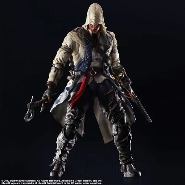 Assassin's Creed Action Figure Playarts Kai Connor Kenway Collection Model Toys PVC 275mm Assassin Creed Play arts Kai assassins creed connor action figure iii game toys assassin creed 260mm pvc anime collectible action figures assassin creed toy