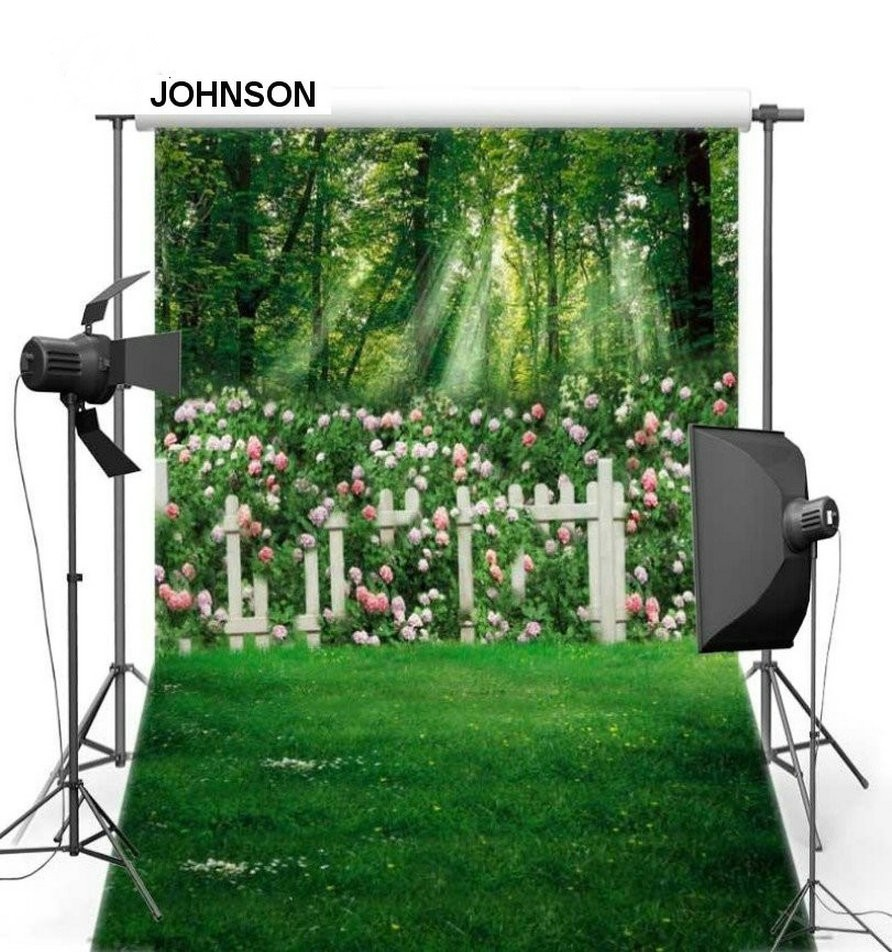Tree Garden Flower Leaves Fence Grass Photography Backgrounds Vinyl cloth High quality Computer Print wall Scenery backdrop vintage castle retro medieval architecture stone bridge mountain backdrop vinyl cloth computer print wall backgrounds