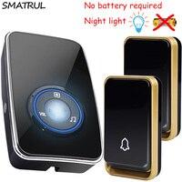 SMATRUL Self Powered Waterproof Wireless Door Bell Night Light Sensor No Battery EU Plug Smart DoorBell