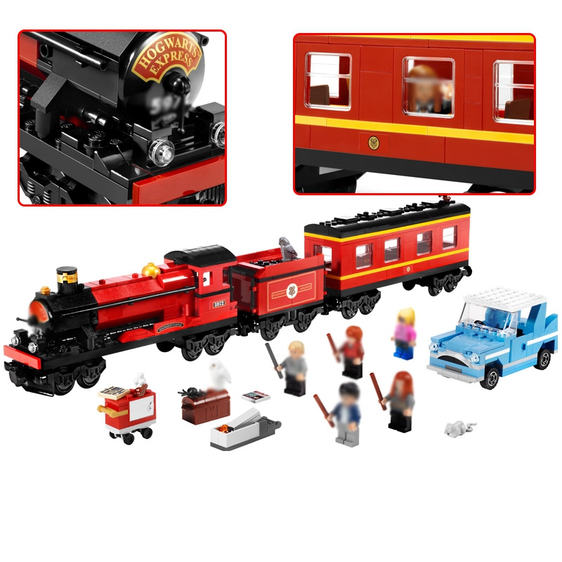 The Hogwarts Express Harry Potter Movie Hermione Ron figs Building Blocks Toys For Children Compatible for LEGOINGS 4841 16031 harry potter professor dumbledore hermione ron fred george death eater assemble building blocks diy figures bricks kids toys